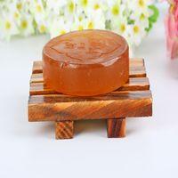 1 pcs madeira natural de bambu de madeira sabonete porta-chair titular acessórios de banho casa organizador de cozinha organizador de cozinha