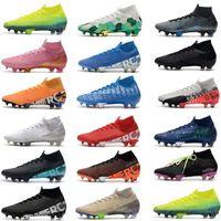 2021 футбольные ботинки Mercurial Superfly 7 Elite SE FG Neymar Ronaldo Mens Clears ACC Футбольные ботинки Scarpe Da Calcio