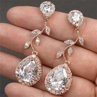 Natural Diamond 14K Rose Gold Earring Pink Mujer Oreja Orecchini Gemstone Bizuteria Jewelry Garnet Drop Earring Oorbellen Joyas2021