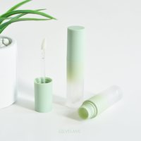 3.5ml Gradient Green Plastic Lip Gloss Tubes Bottles DIY Cosmetic Wand Tube Packaging Empty Balm Oil Containers Makeup Gift Personal Care Vials