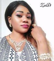 Earrings & Necklace ZuoDi Quality Italian Designer Jewelry Set Wholesale Dubai Gold Colorful Sets Brand Fashion African Bridal