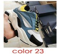2021 Man B22 Piattaforma Piattaforma Sneaker Blu Riflettente Low Top Sneakers Canvas Culfskin Trainer Fashion Multicolore Donna Lace-up Scarpe casual 36-45