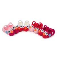 Baby First Walkers Shoes Tooldler Младенческие девушки обувь вязание крючком вязаный ручной работы цветок дети новорожденного носить мультфильм B6706