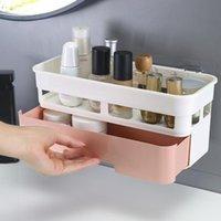 Fabricantes vendem prateleiras de banheiro, banheiros, mesas de lavagem, toalhas, caixas de recibos de cosméticos de parede Atacado caixas de armazenamento