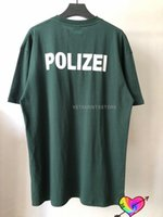 VETRENZE VETENZE POLISI T-shirt da uomo Donne 11 Testo di polizia di alta qualità Logo Stampa Vetements TEE Indietro La lettera ricamata VTM Tops