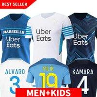 Jersey de football olympique de Marseille 2021 2022 om Marseille de Maillot Foot Payet Thaauvin Benedetto Polo Jerseys 21 22 Marseille Milik Shirts