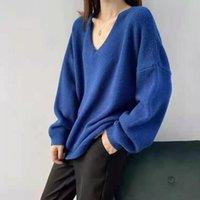 AIBEAUTY-Frühling Herbst koreanischer Stil übergroße elegante feste warme Pullover-Jumper-Dame-Tops Frauenpullover
