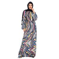 Ethnic Clothing Muslim Dress Fashion Long Sleeve Plus Size Women National Bead Print Abaya Dubai Turkey Donsignet