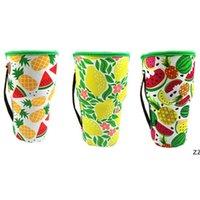 Tumbler-Becher Flaschenhalter-Abdeckung Getränke-Taschen Neopren-isolierte Ärmel-Tasche Sonnenblume Baseball-Eiskask-Kaffeetassen Wasserflaschen 30 Unzen HWD7411