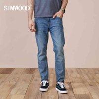 Simwood Spring Slim Fit Jeans conici da uomo Casual Basic Pantaloni classici Abbigliamento di marca di alta qualità SK130283