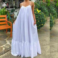 Sexy Summer Dress Women White Maxi Dresses for Women Party Long Dress Backless Dresses Plus Size Clothing Woman Dress Vestidos A0525