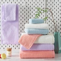 Towel High Quality 100% Cotton Solid Color Bath For Adult Child Soft Absorbent Household Travel Gym Beach Towels 70x140cm