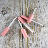 2.5ml 미니 샘플 화장품 립 광택 튜브 n 핑크색 모자, 플라스틱 명확한 작은 빈 액체 립스틱 재충전 병, 메이크업 도구 저장 보지
