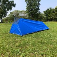 الجودة في الهواء الطلق الصيف خيمة خفيفة rodless التخييم 1person شبكة النوم كيس 4 أنواع داخل الخيام صافي البعوض والملاجئ