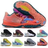 남자 Kyries IV 낮은 irvings 4 망 농구 신발은 세계 4s 화이트 블루 블랙 골드 그린 오렌지 스포츠 운동화 크기 US 7-12