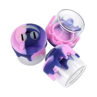 glass container silicone dab concentrate Home Storage Bottles nonstick jar waxoilrigs smokingpipecontainers