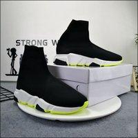 Mann Frau Casual Schuhe Socke 1 2.0 Walking Schuh Geschwindigkeit Trainer Original Paris Lady Schwarz Weiß Rot Spitze Socken Sport Sneakers Top Qualität Stiefel Klare Sohle Größe 36-47 US10