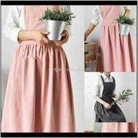 Aprons Textiles & Garden Drop Delivery 2021 Nordic Women Lady Skirt Style Collect Waist Cute Dress Restaurant Coffee Shop Home Kitchen For Co