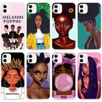 Babaite African Beauty Afro Puffs Black Girl Phone Cases for Apple iPhone12 11 8 7 Plus X XS MAX SE XR Cover