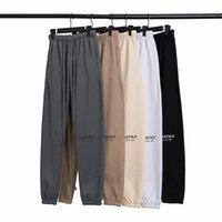 2021 Sis Essentiallar Yansıtıcı Pantolon Erkekler Kadınlar Tasarımcı Uzun Pantolon Bahar Yaz Tanrı Korkusu Korku Korkusu Spor Koşu Jogger Büyük Boy Eşofman