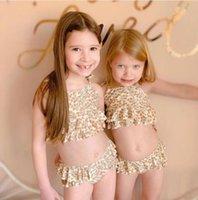 أستراليا نمط ins كيد بنات ملابس الزهور قطعتين مع قبعة طفل رضيع الصبي ملابس السباحة الطفل الصيف