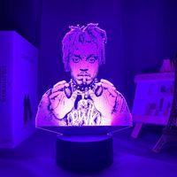 Nachtlichter 3D Lampe Saft Wrld LED-Licht für Home Dekoration Bunte Nachtlichtgeschenk Fans Drop