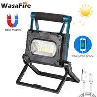 36 * SMD LED Work Light Lanternas Ajustáveis Bateria Bateria Bateria Recarregável Pesquisa Solar Lâmpada Ao Ar Livre Camping Portable