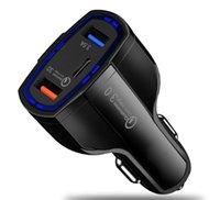 Top-Qualität QC3.0 Drei Ports Schnellladung Auto-Ladegerät Dual USB-Automobil-Ladegerät