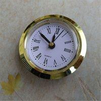 Wholesale 5PCS Gold Rim Face Diameter 50MM Clock Insert Built - in Roman and Arbic Numerals for Fit Up Repair Kits