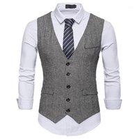 Costume de haute qualité Gilet Hommes Formelle Business Casual Slim Fit Garde Wein Wear Gaistte Elégante Tuxedo Chalecos Para Hombre 1 # 1