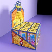 Creative blind paper tape guessing box cartoon girl student 3D hand puppet