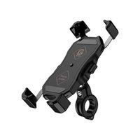 Kewig Rapeasing Motorcycle Mount Mount Bicycle / Bike Mobilephone Holder Handlebar / Montaje de la vista trasera 360 Bloqueo de rotación para teléfonos celulares de 3.4-6.9 pulgadas
