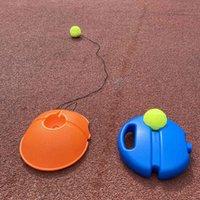 무거운 의무 테니스 훈련 에이즈 도구 탄성 로프 공 연습 자기 듀티 리바운드 테니스 트레이너 파트너 스파링 장치