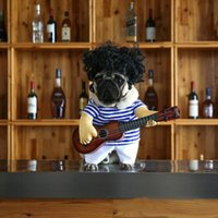 Dog Apparel Funny Pet Clothes Cosplay Guitar Player Cat Halloween Party Cute Costume Clothing Comfort For Small Medium