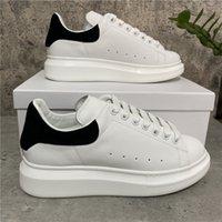 2021 Designer Hot Sapatos Casuais Luxo Mulheres Homens De Couro Lace Up Plataforma Superized Sneakers Tamanho 36-45 com caixa
