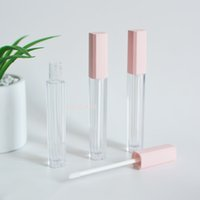 4.5ML Mini Pink Empty Lip Gloss Balm Bottles DIY Clear Lipstick Oil Tube Refillable Makeup Vials Packaging