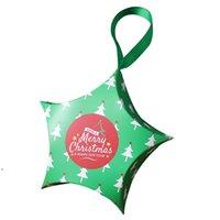 Xmas Pentagram Candy Gift Paper Case Star Shape Food Mini Cartoon Packaging Box Christmas Decorations Storage Organizers DWE9263