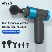 LCD Display Body Massage Gun USB Charge Electric Deep Tissue Percussion Massager Muscle Vibrating Lactic Acid Relief Pain 6Heads 210324