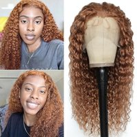 Lace Wigs 13x4 Front Human Hair Brown Red 99J Brazilian Deep Wave For Black Women Remy Wig With Baby 150%