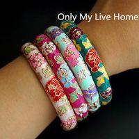 Peony Flower Chinese Filigree Bangle Cloisonne Enamel Traditional Handicraft Ethnic Bangles For Women Accessory Fashion Jewelry