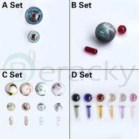 4 styles de tabac accessoires Ensembles comprenant des perles de rubis / pilules de 10 mm de 14mm 20mm 22mmm de 22 mm de verres de verre de verre de verre pour Terp Slurper Quartz BANGER Nails Plateaux