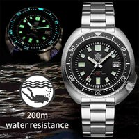 Tasarımcı İzle Marka Saatler Lüks İzle IRE Kristal Paslanmaz Çelik NH35 Otomatik Mekanik Erkekler 1970 Abalone Dalış
