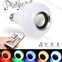 LED Ampul E27 RGB RGBW 12 W Lamba ile 24key Denetleyicisi 100 ~ 240 V Müzik Bluetooth Küresel Işık Noel Cadılar Bayramı için Ev Partisi Eub