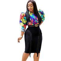 SWTAO Kadınlar Moda Püskül Bandaj Tasarımcısı Trendy Mini Parti Midi Kalem Etek 210416