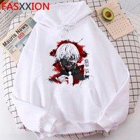 Tokyo Ghoul Hoodies männliche Grunge Hip Hop Graphic Plus Size Sweatshirts Hoody Ulzzang Männer