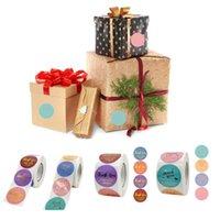 Envoltura de regalo gracias autoadhesivo sellado etiqueta etiquetas 500x / roll fiesta suministros pegatinas clase recompensa niños maestros multicolor