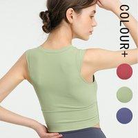 Women yoga vest Camisoles girls sports underwear align tank top fitness running jogging gym bra fashion short tops womens clothes clothing