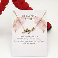Brief Angel Hanger Angel Collarbone korte ketting