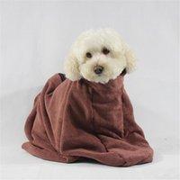 Hundepfleger Bademantel Gesamt Haustier Katze Welpen Badetuch Mikrofaser starkes absorbierendes Wasser Schnelltrocknendes Haar
