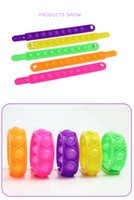 Bracelets Fidget Toys Pack for Kids favor Mini Simple Dimple Digit Push Bubble Popping Silicone Wristband Boy and Girl Sensory Decompression Toy